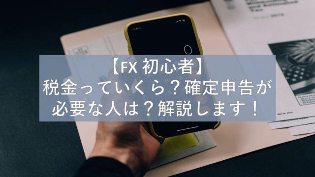 FX 確定申告